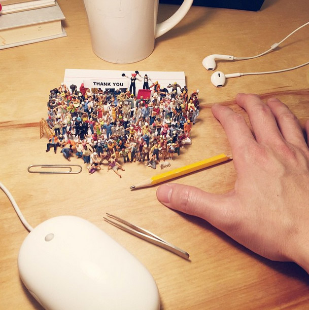 these clever photos of miniature figures take you through life in an agency