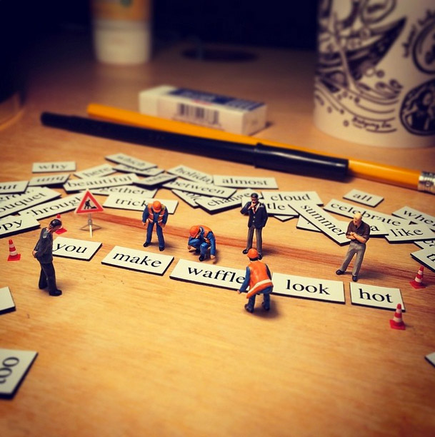 Life In An Agency, Miniature Figure Photographs - 14