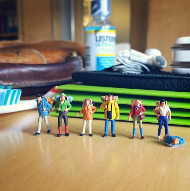 Life In An Agency, Miniature Figure Photographs - 5