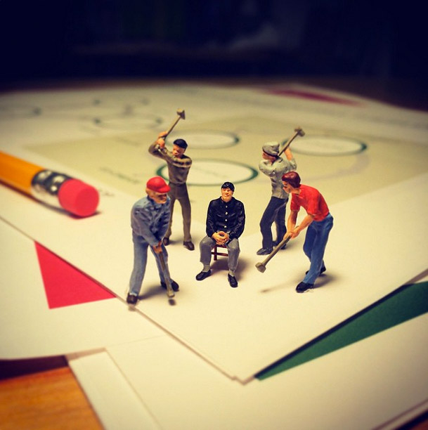 Life In An Agency, Miniature Figure Photographs - 6