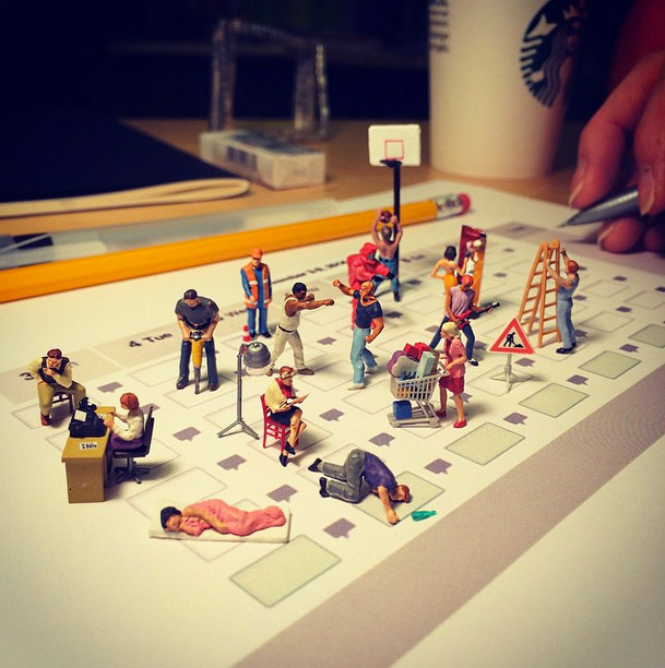 Life In An Agency, Miniature Figure Photographs - 16