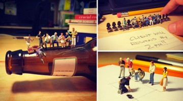 These Clever Photos Of Miniature Figures Take You Through Life In An Ad Agency