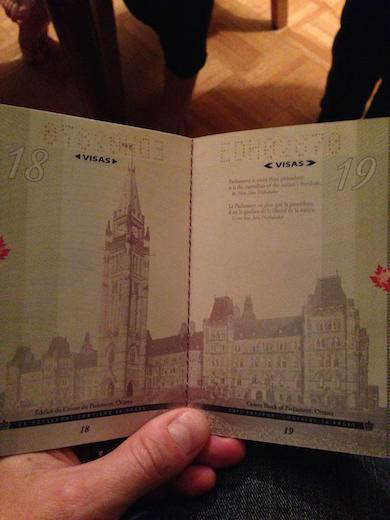 New Canadian Passport