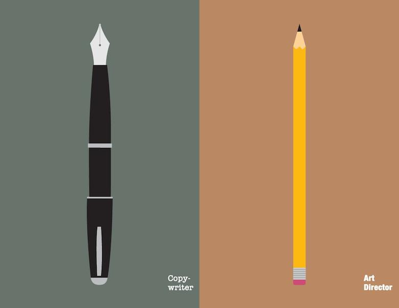Copywriter Vs Art Director Illustration - 1