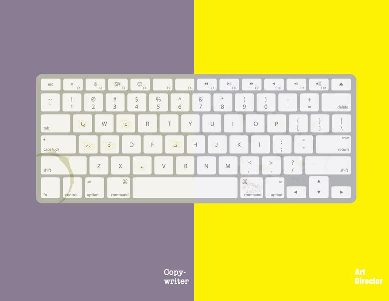 Copywriter vs. Art Director: The keyboard