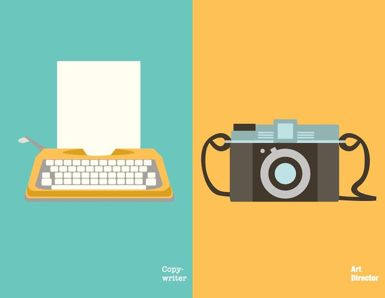 Copywriter vs. Art Director: Back in the day
