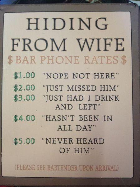 Funny Creative Bar Signs - 1