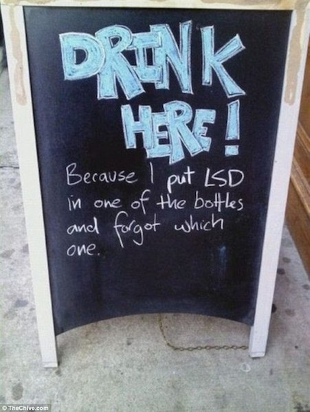 40 Funny And Creative Bar Signs Thatll Make You Step In And Grab A