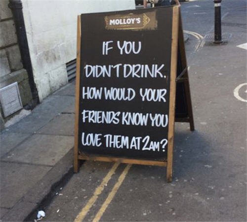 40 Funny And Creative Bar Signs That'll Make You Step In And Grab A ...