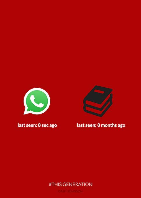 This Generation: WhatsApp Vs Books