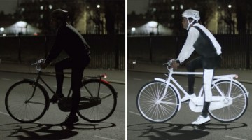 This Glow-In-The-Dark Spray Paint By Volvo Helps Keep Cyclists Safe At Night