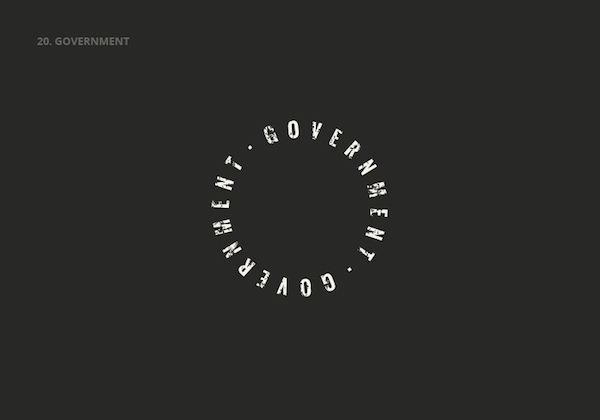 Clever, Double Meaning Logos of Common English Nouns - GOVERNMENT