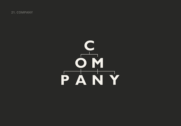 Clever, Double Meaning Logos of Common English Nouns - COMPANY