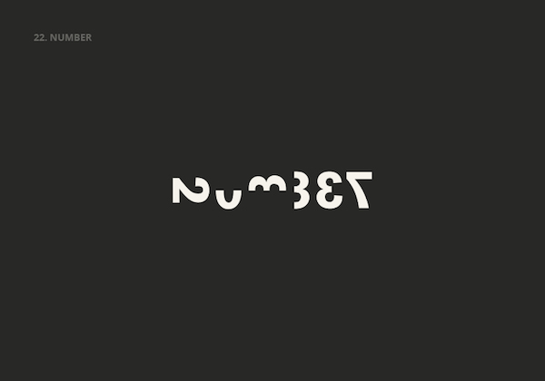 Clever, Double Meaning Logos of Common English Nouns - NUMBERS