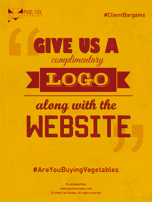 Client bargaining tactics: Give us a complimentary logo along with the website