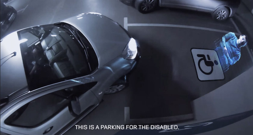 In This Mall Holograms Of Disabled People Appear If You