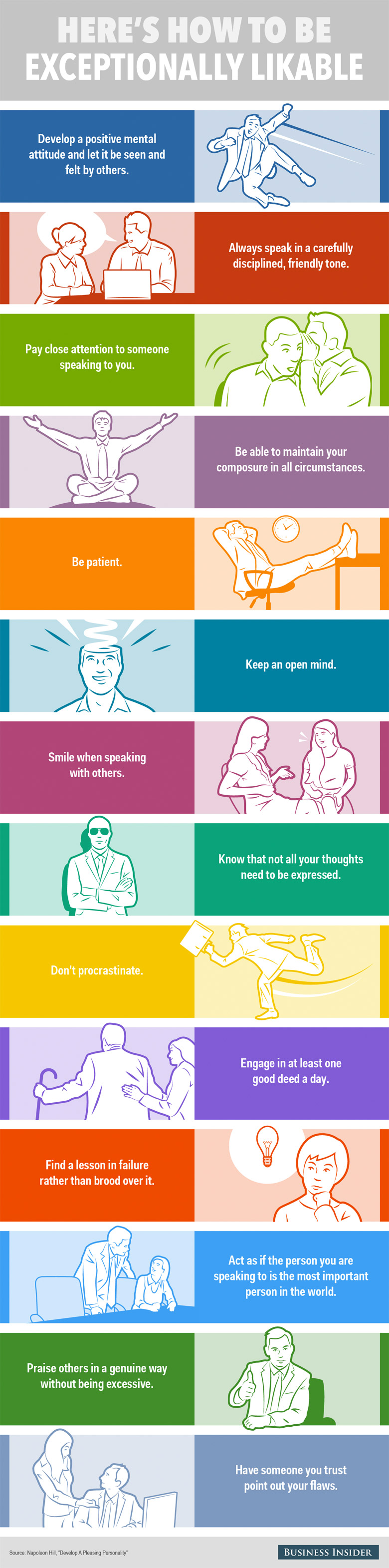 14 Habits Of Exceptionally Likable People (Infographic)