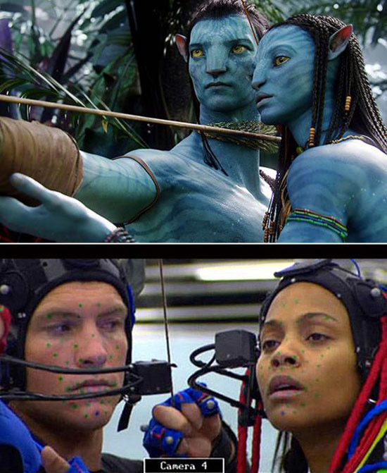 Avatar: Before and after green screen + CGI (1)