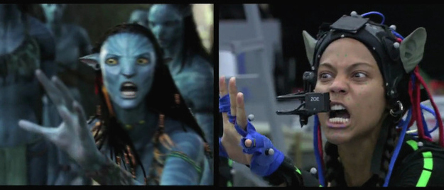 Avatar: Before and after green screen + CGI (2)