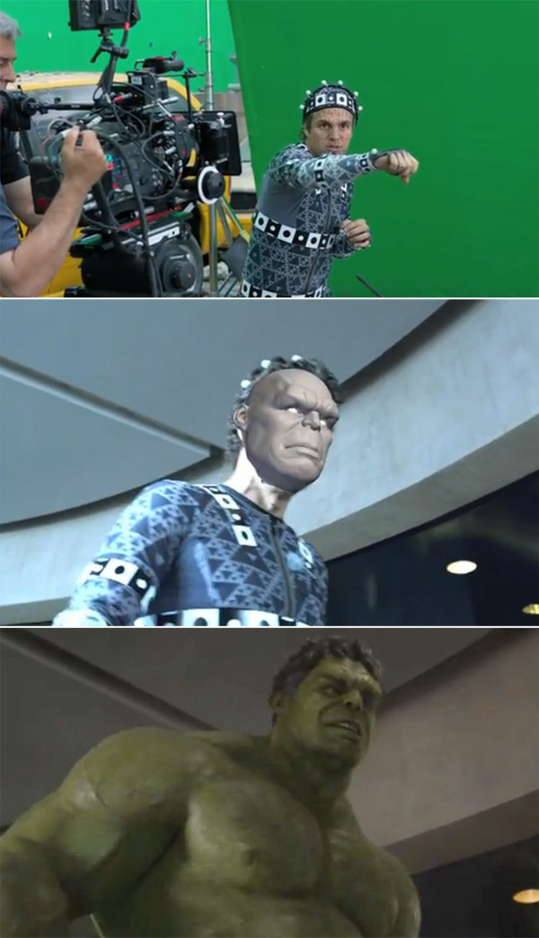 Avengers: Before and after green screen + CGI (3)