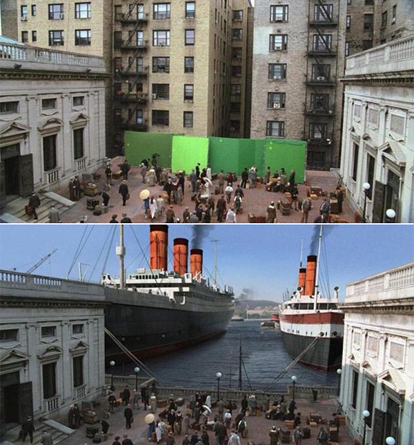 Boardwalk Empire: Before and after green screen + CGI