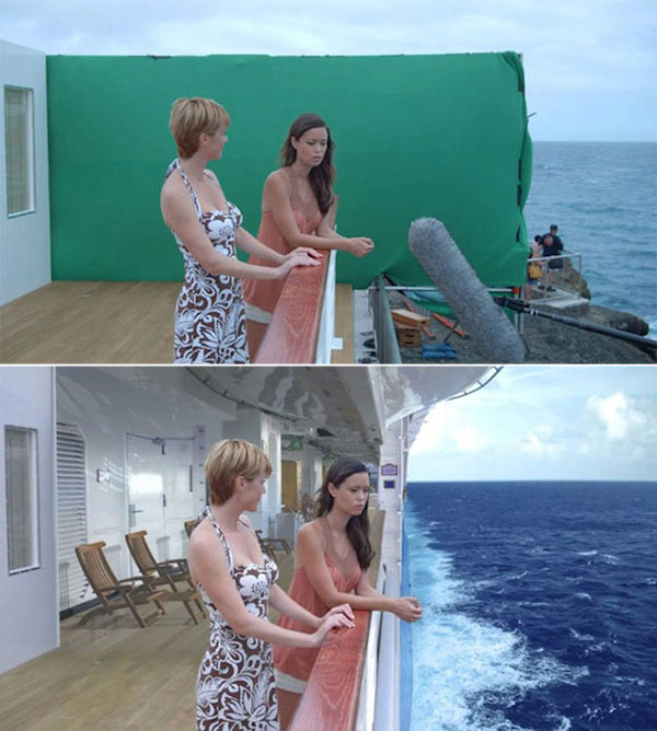 Deadly Honeymoon: Before and after green screen + CGI