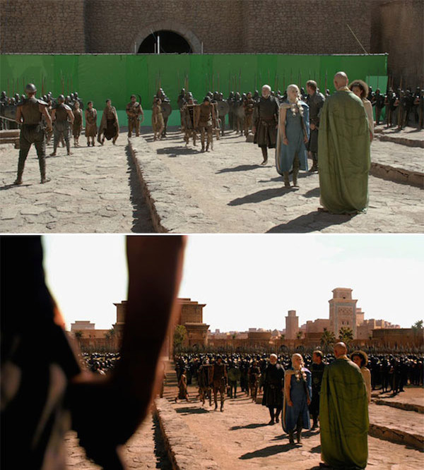Game of Thrones: Before and after green screen + CGI (2)