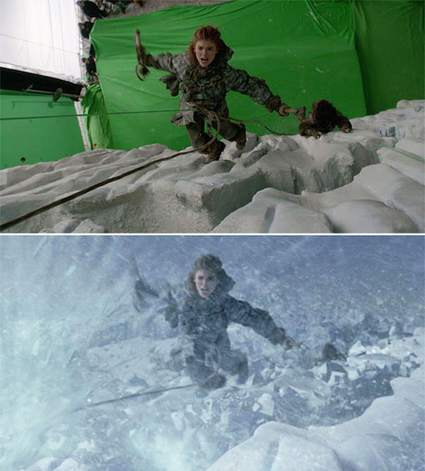 Game of Thrones: Before and after green screen + CGI (4)