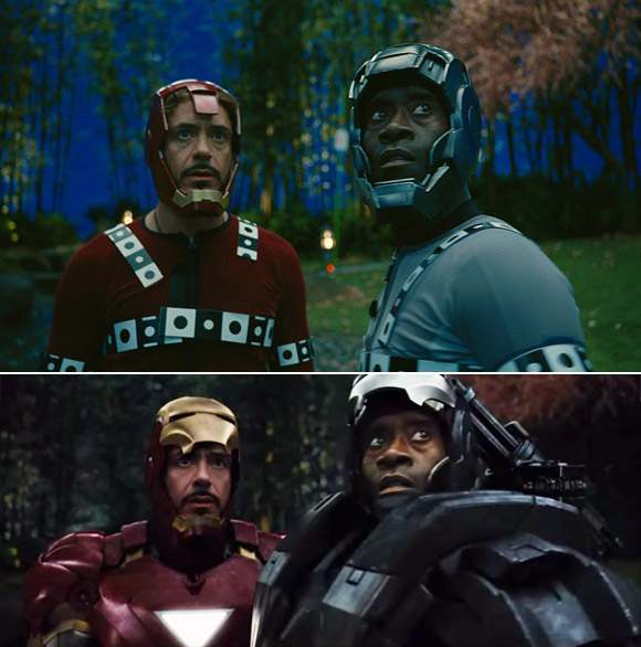 Iron Man: Before and after green screen + CGI (2)