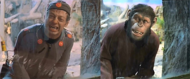 Rise of the Planet of the Apes: Before and after green screen + CGI (2)