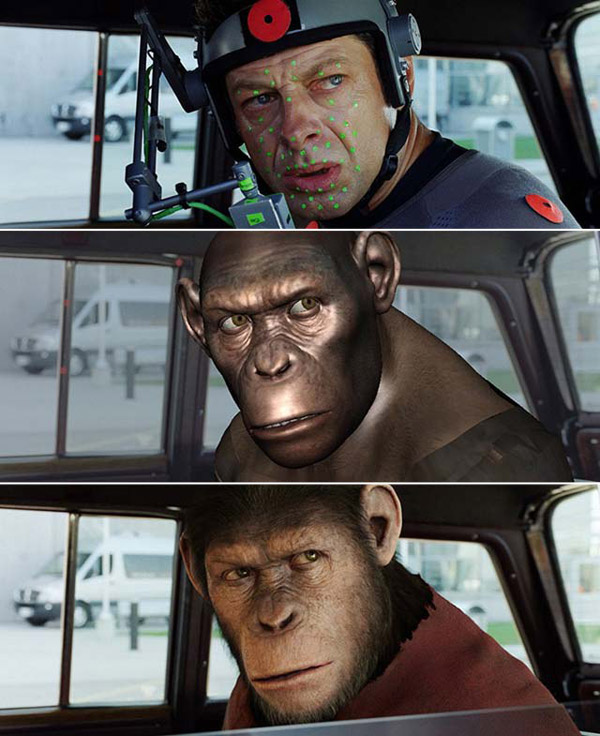 Rise of the Planet of the Apes: Before and after green screen + CGI