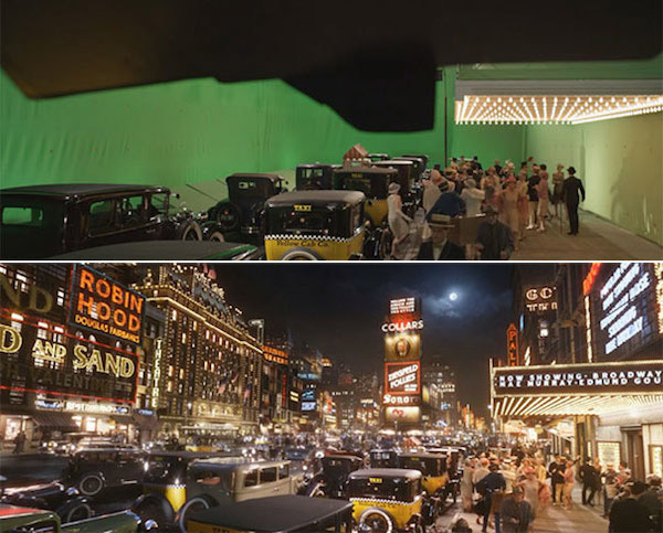 The Great Gatsby: Before and after green screen + CGI