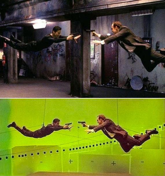 The Matrix: Before and after green screen + CGI