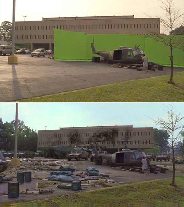 The Walking Dead: Before and after green screen + CGI (2)