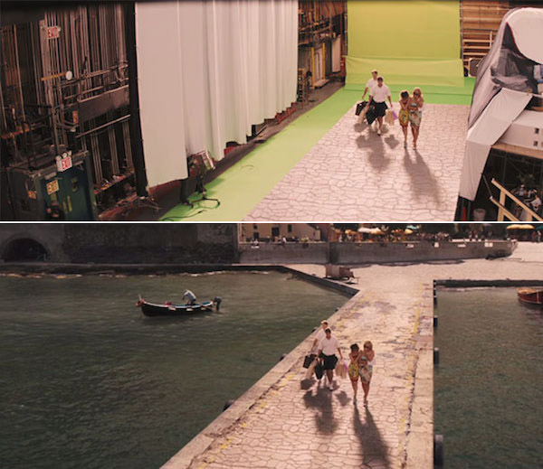 The Wolf of Wall Street: Before and after green screen + CGI
