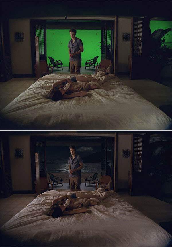 The Twilight Saga: Breaking Dawn: Before and after green screen + CGI