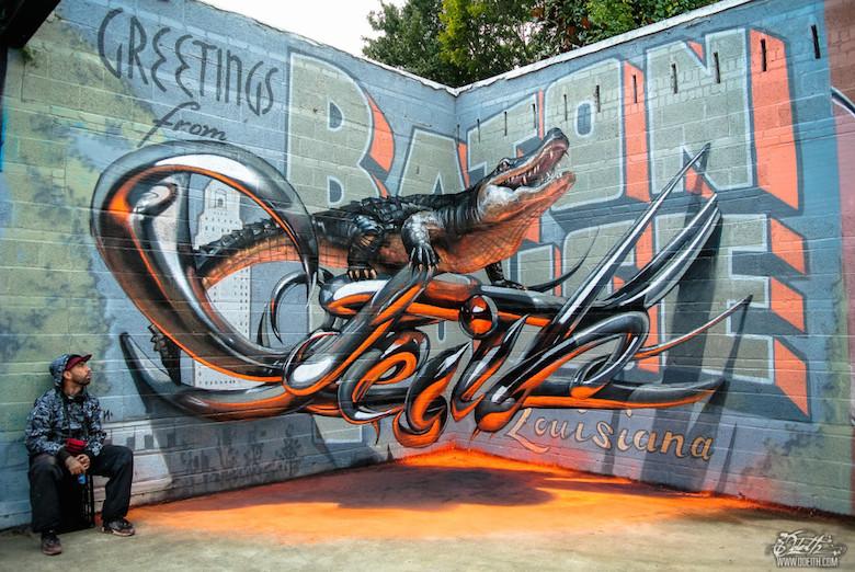 3D Anamorphic Art Graffiti Street - 1