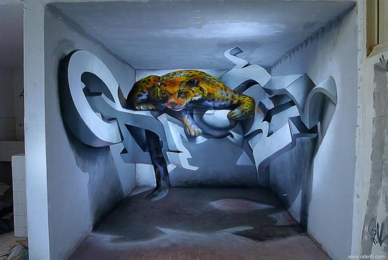 3D Anamorphic Art Graffiti Street - 11