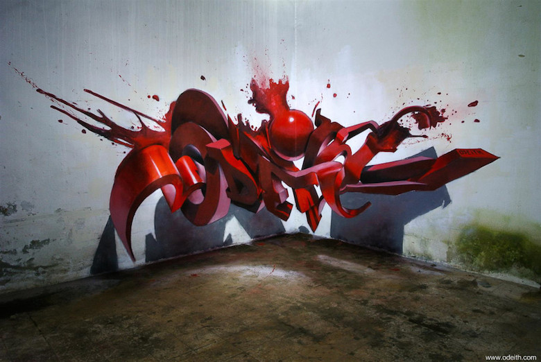 3D Anamorphic Art Graffiti Street - 12