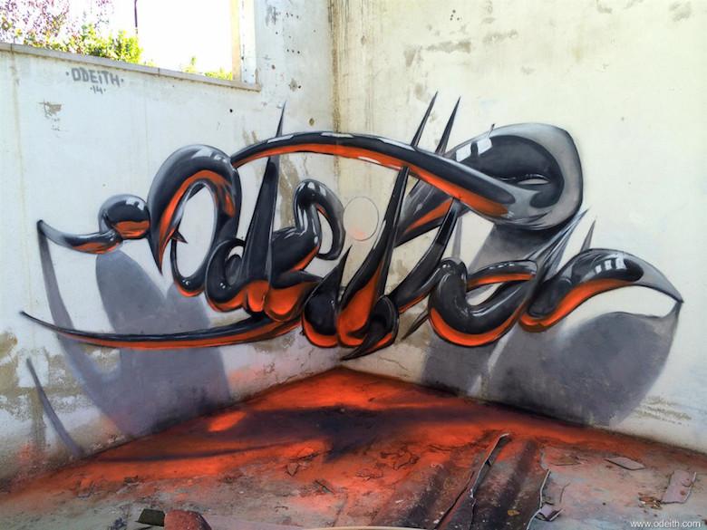 3D Anamorphic Art Graffiti Street - 13