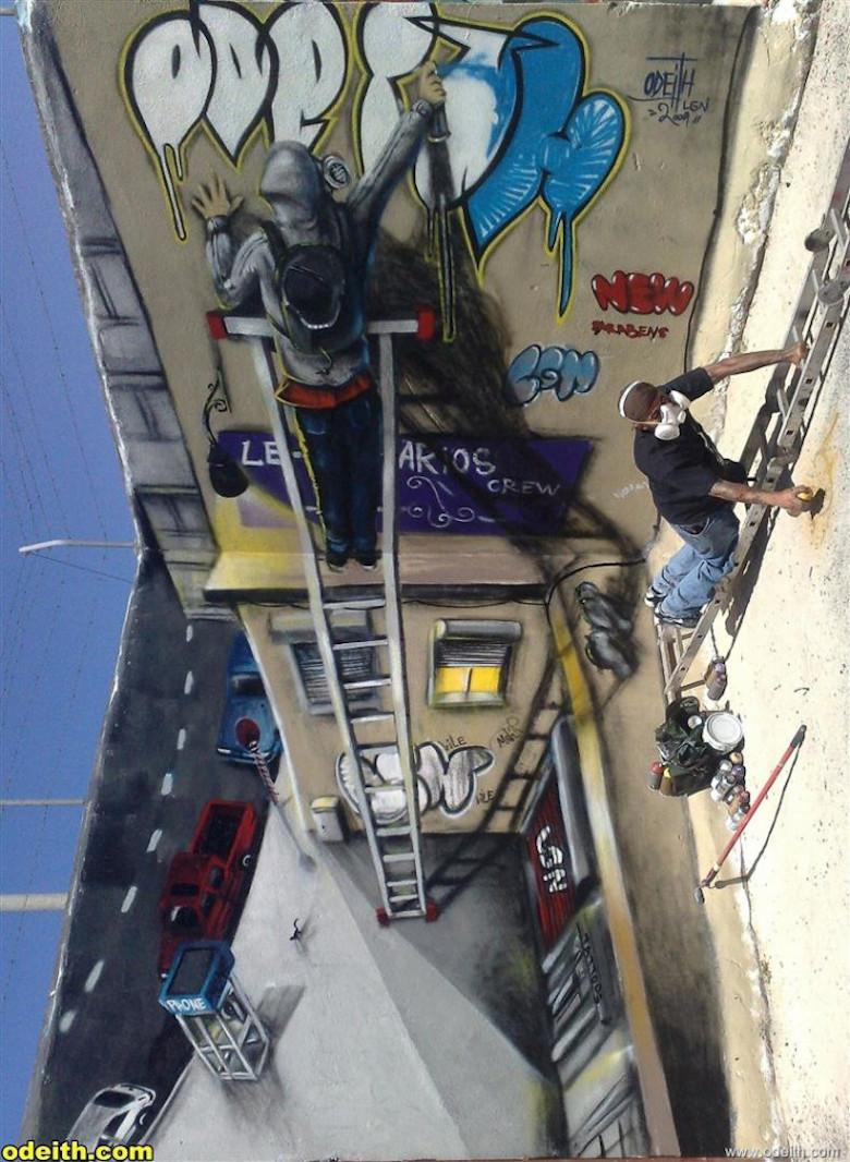 3D Anamorphic Art Graffiti Street - 14