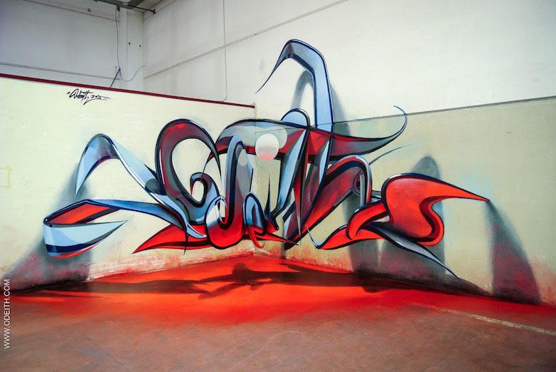 3D Anamorphic Art Graffiti Street - 15