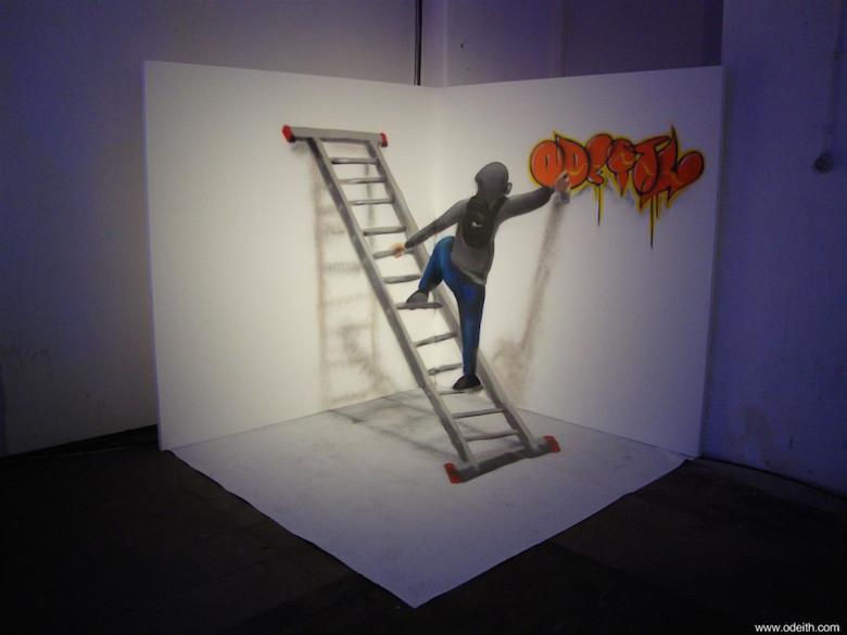 3D Anamorphic Art Graffiti Street - 16