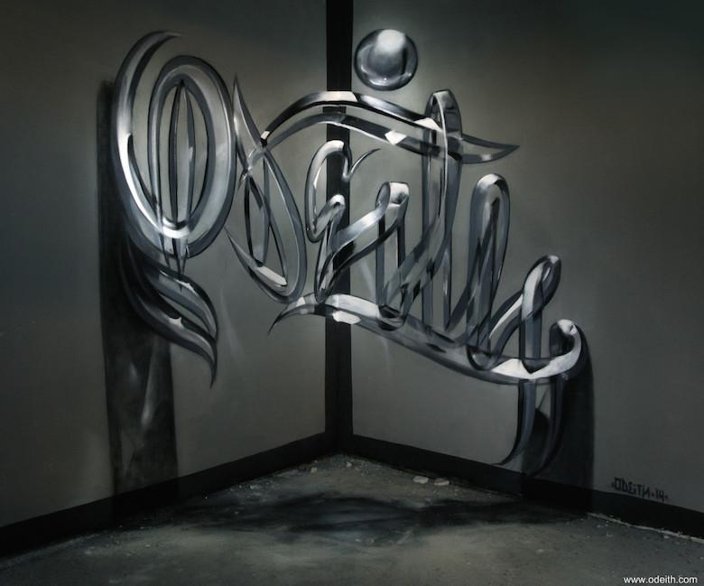 3D Anamorphic Art Graffiti Street - 3