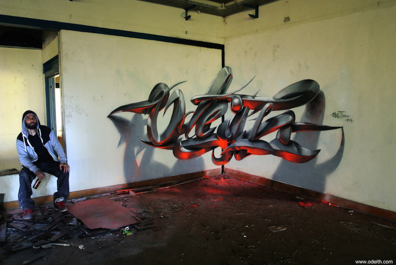 3D Anamorphic Art Graffiti Street - 4