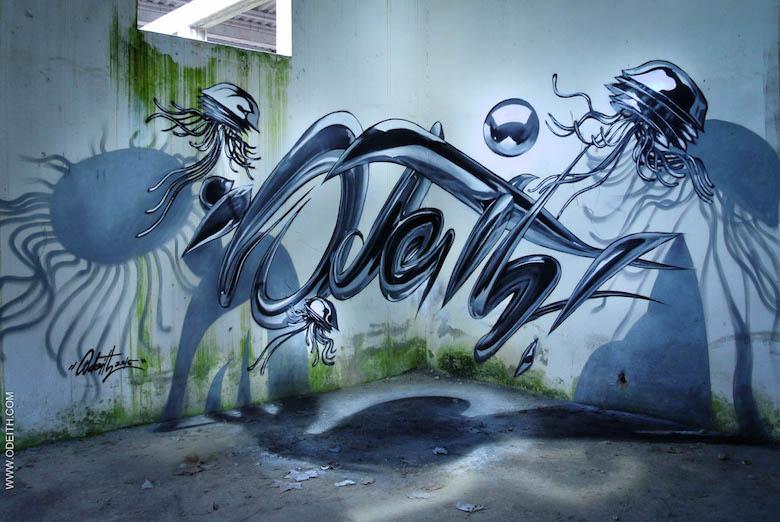 3D Anamorphic Art Graffiti Street - 8