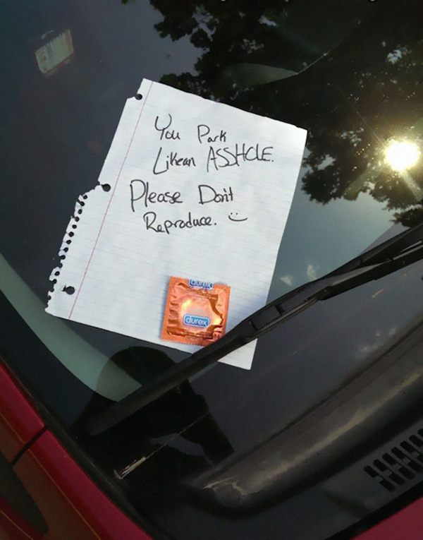 Funny Windshield Notes For Bad Parking - 1