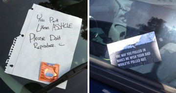LOL: 24 Creative Windshield Notes For Drivers Who Parked Horribly