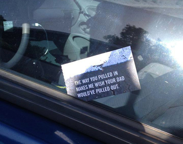 Funny Windshield Notes For Bad Parking - 4