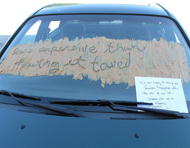 Funny Windshield Notes For Bad Parking - 7